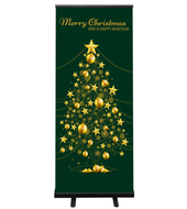 Kerst roll up banner